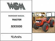 Buy Kubota MX5000 Tractor Service Repair Workshop Manual CD - MX 5000