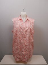 Buy PLUS SIZE 18W Women Button Shirt CHARTER CLUB Pink Floral Collared Sleeveless