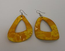 Buy Women Earrings Fashion Drop Dangle Mustard Yellow Hook Fasteners FASHION JEWELRY