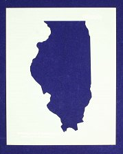 Buy State of Illinois Stencil -14 mil Mylar Painting/Crafts