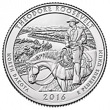 Buy 2016-S THEODORE ROOSEVELT NATIONAL PARK QUARTER - UNCIRCULATED! From Mint roll