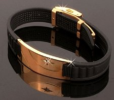 Buy ELECTRIFIED FEEL BETTER EJNP-D008 Silicone & Steel (Gold Plated) Bracelet