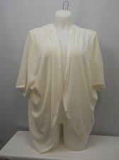 Buy Women Cardigan Wrap Swing Cocoon SIZE 3X Solid Ivory Crotched Back Kimono Sleeve