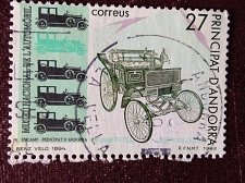 Buy Andorra Spanish 1v used stamp 1992 National Car Museum MiES 229,