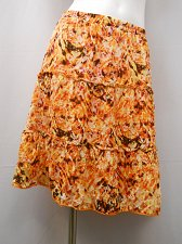 Buy Womens Peasant Skirt Size S AGB Geometric Three Tired Multi Color Elastic Waist