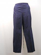 Buy Womens Casual Pants Navy Striped SIZE 20 Straight Leg Elastic Waist