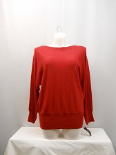 Buy PLUS SIZE 0X Women Sweater ALFANI Solid Red Boat Neck Long Sleeves Thin Knit
