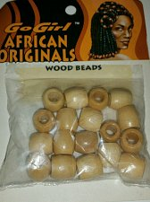 Buy African Originals Wood beads light brown 18 beads braids craft dreds jewelry