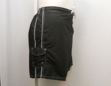 Buy SIZE 12 Women Swim Long Board Shorts SWIMSUITS FOR ALL Side Pocket Solid Black