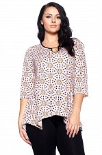 Buy PLUS SIZE 1XL 2XL 3XL 4XL Womens Tunic Top HOT GINGER Floral ¾ Sleeves Keyhole