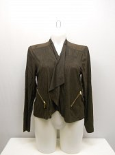 Buy PLUS SIZE 2X Womens Wrap Crop Cardigan FRENCH LAUNDRY Faux Suede Brown Long Slee