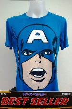 Buy Captain America White blue 100% T-Shirt The Avengers Super Hero Marvel *113