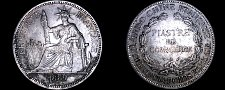 Buy 1889-A French Indo-China 1 Piastre World Silver Coin - Vietnam