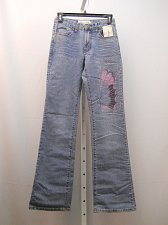 Buy Womens Jeans Size 4 MILANO MODA Embellished Stonewashed Boot Cut Legs 26X33