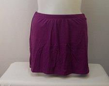 Buy SIZE 14 Women Swim Skirt SWIM365 Solid Violet Attached Brief Stretch Fabric