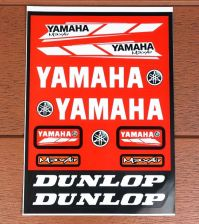 "Buy Racing Team Yamaha stickers sticker Vinyl sheet pack kit 9"" X 12"" Red"