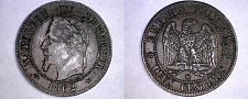 Buy 1862-K French 2 Centimes World Coin - France