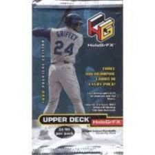 Buy 3 new baseball PACKs 1999 UPPER DECK HOLOGRFX holographics piece of history bat