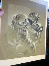 Buy Original Art by Comic Artist ERNIE COLAN -- CYBORG signed !
