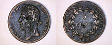 Buy 1829-A French Colonies 5 Centimes World Coin