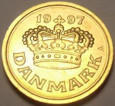 Buy Denmark 1997 25 Ore Unc