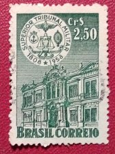 Buy Brazilian stamp1958 used 1v Superior military tribunal building 150 years
