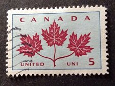 Buy Canada Used stamp 1v #417 - Maple Leaves (1964) 5¢
