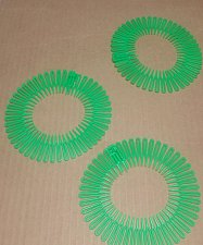 Buy 3 PIECE SET headband Set 3 Flex spider hair comb teeth accordion stretch Green