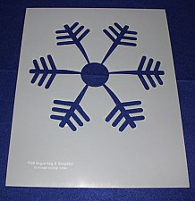 Buy Extra Lg Snowflake Stencil Mylar 14 Mil Lg - Painting /Crafts/Templates