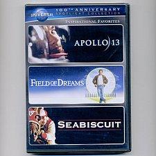 Buy 3movie DVD Apollo13,Field of Dreams,Seabiscuit,Tom HANKS Kevin COSTNER Ed HARRIS