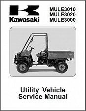 Buy 2001-2007 Kawasaki Mule 3010 / 3020 / 3000 UTV Service Manual on a CD