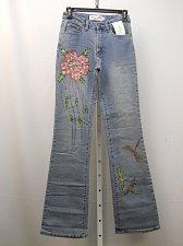 Buy Womens Jeans Size 4 MILANO MODA Stonewashed Embellished Boot Cut Legs 26X33