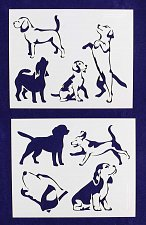 Buy Beagle Dog Stencils-2 pc Set-14 Mil Mylar- Painting/Crafts/Template