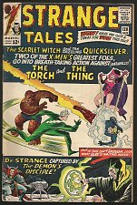 Buy Strange Tales #128 DR. STRANGE Marvel Comics DITKO 1964 Thing & Torch