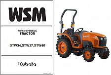 Buy Kubota STW34 STW37 STW40 Tractor WSM Service Workshop Manual CD