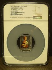 Buy Rare Cook Islands 2009 $5 NGC PF-64 UC~Leonardo Da Vinci~Top Grade~Oversize