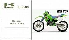 Buy 89-94 Kawasaki KDX200 KDX250 Service Repair Workshop Manual CD .. KDX 200 250