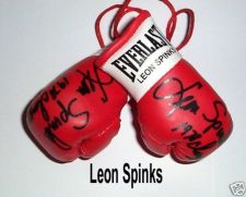 Buy Autographed Mini Boxing Gloves Leon Spinks