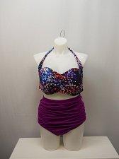 Buy PLUS SIZE 24 Women 2PC High Waist Bikini SWIM SEXY The Icon Wanderlust Halter