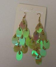 Buy Women Fashion Drop Dangle Earrings Lime Green Gold Beads FASHION JEWELRY Hook