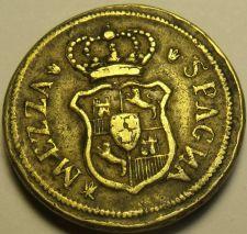 Buy Italy Mezza Spagna Brass Coin~13.3 Grams 26mm~Free Ship