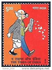 Buy India Commemorative Stamp2013 THE TIMES OF INDIA Thematic Cartoon & newspaper