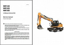 Buy Case WX145 WX165 WX185 Hydraulic Excavator Service Manual on a CD