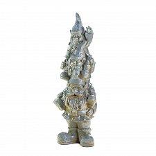 Buy *17172U - Stacked Gray Ceramic Happy Gnome Trio Statue