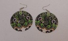 Buy Womens Earrings Round Shells Fashion Drop Dangle Multi Paisley Hook ANN KIM