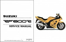 Buy 1994-1998 Suzuki RF600R Repair Service Manual CD ----- RF 600 R RF600 600R