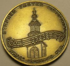 Buy Stephen Foster Memorial White Springs Florida Unc Bronze Medallion 29mm