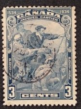 Buy Canada postage stamp 1v Used SCOTT 208 — 3¢ JACQUES CARTIER