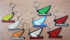 Buy HONDA WING KEYCHAIN LOGO KEY RING RUBBER MOTORCYCLE BIKE CAR GIFT FREE SHIPPING