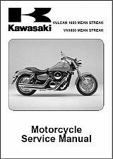 Buy Kawasaki Vulcan 1600 Mean Streak / VN1600 Mean Streak Repair Service Manual CD